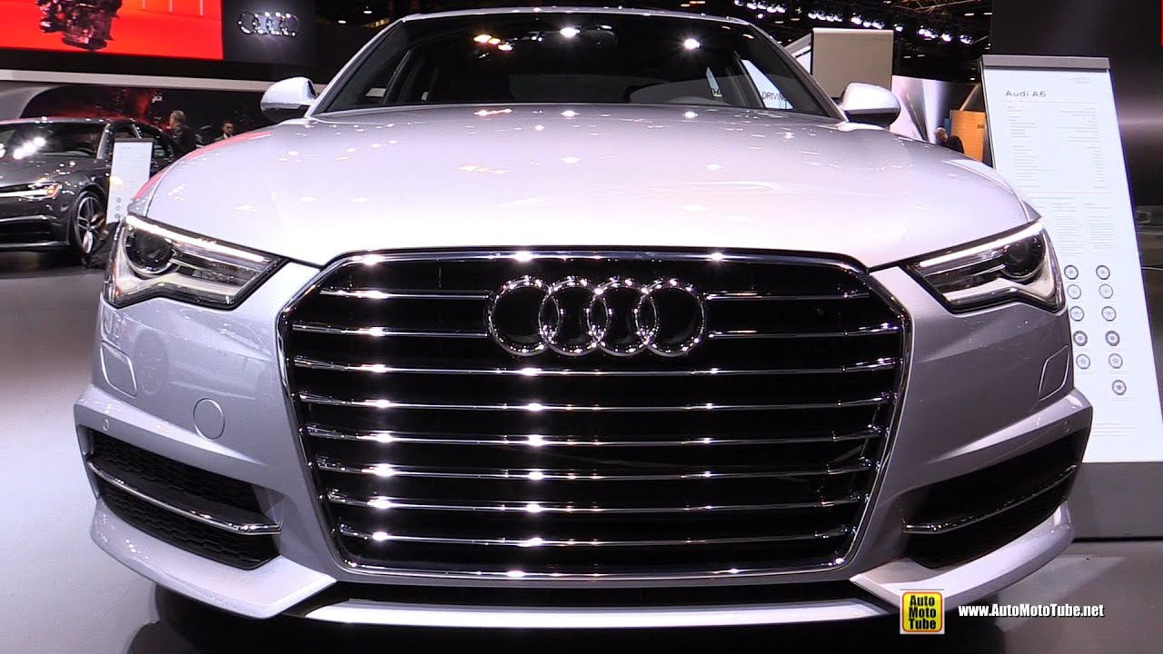 2016 audi a6 3 0t premium plus prestige exterior and interior walkaround 2016 chicago auto. Black Bedroom Furniture Sets. Home Design Ideas