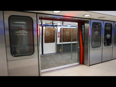 Atlanta Airport Train Ride @ Hartsfield-Jackson Atlanta International (4K)