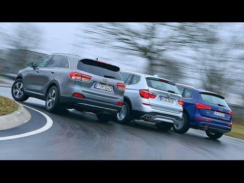 Kia Sorento Gegen Audi Q5 Und BMW X3 (2015)