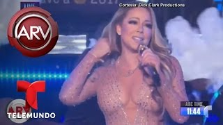 Mariah Carey y el fiasco de su presentación de Año Nuevo | Al Rojo Vivo | Telemundo