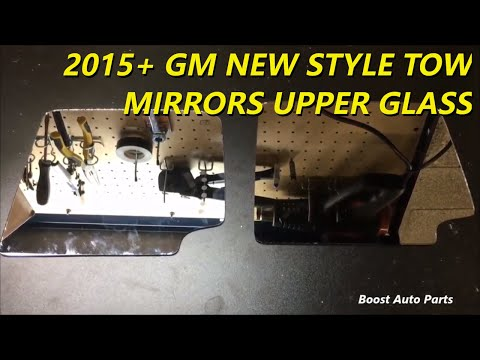 Replace Chevy GMC Tow Mirror Upper Glass 2015+ Style OEM Aftermarket
