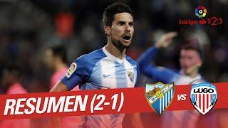 Resumen de Málaga CF vs CD Lugo (2-1)