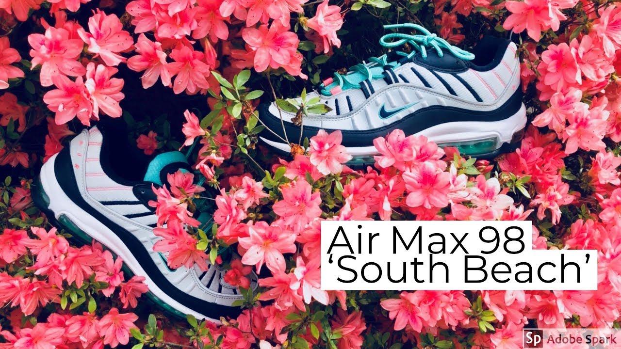 air max 98 south beach on feet