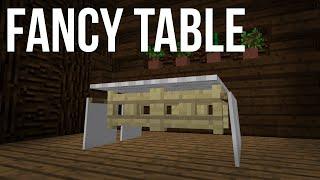 minecraft table fancy easy