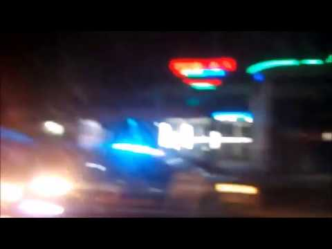 Night View Jhelum River Bridge to Sarai Alamgir Bazaar Main GT Road Pakistan