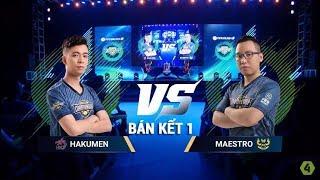 Bán kết 1 - HND.Hakumen vs GAM.Maestro - VCK National Championship 2018 [FIFA Online 4]