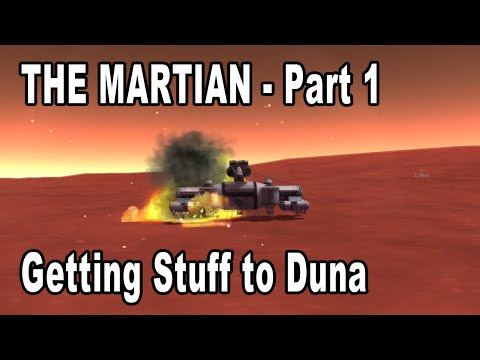 The Martian in Kerbal Space Program - Getting the Ascent Vehicle and Habitat to Duna