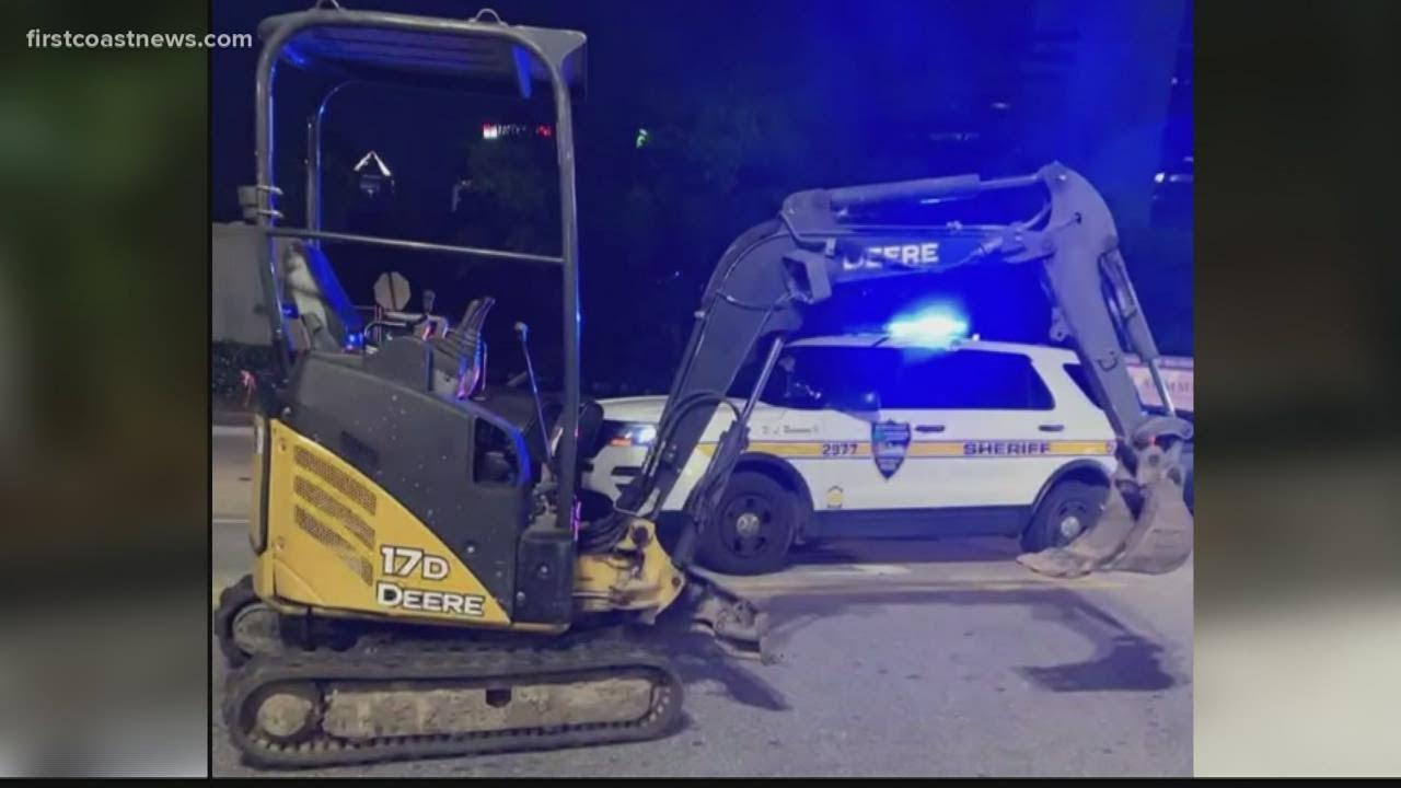 Man drives stolen excavator through maternity entrance at Baptist Health