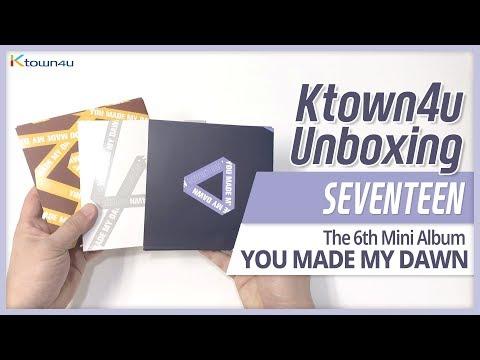 Unboxing SEVENTEEN 6th mini album [YOU MADE MY DAWN] all versions&Kihno 세븐틴  언박싱 セブンティーン KPOP Ktown4u