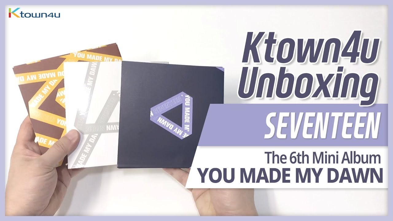 Unboxing SEVENTEEN 6th mini album [YOU MADE MY DAWN] all