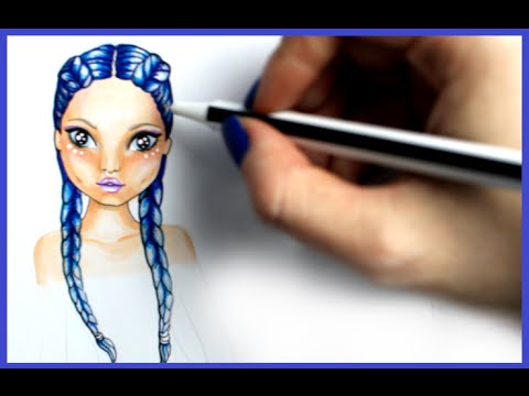 Topmodel Malbuch How To Draw Hair Boxerzopfe Malen Copics