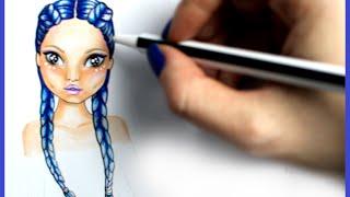 Topmodel Malbuch | How to draw Hair | Boxerzöpfe malen | Copics || Foxy Draws