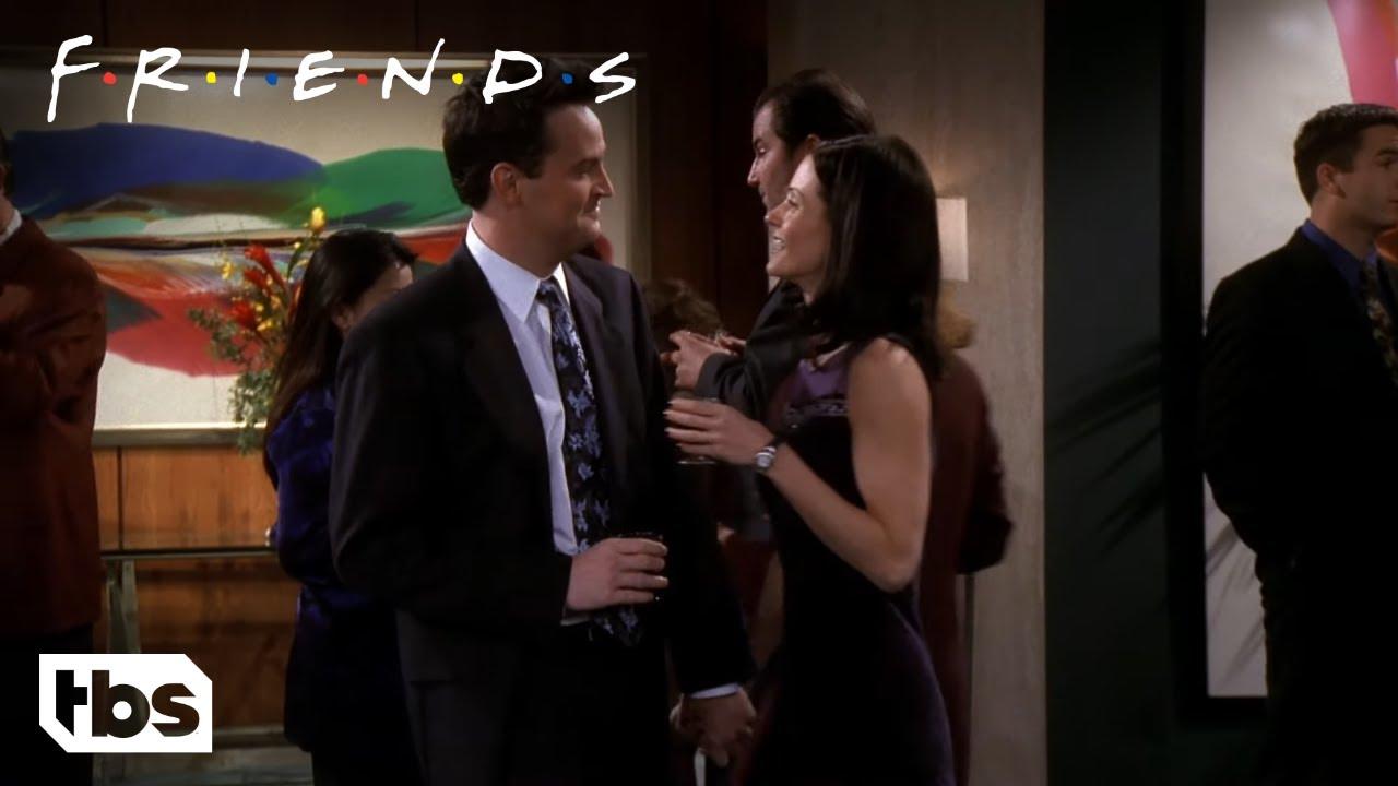 Friends: Chandler and Monica Sneak Around (Season 5 Clip) | TBS