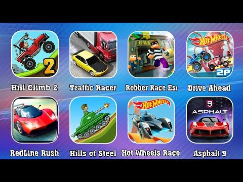 Сборник игры ГОНКИ - Hill Climb Racing 2, Asphalt 9, Drive Ahead, Hills Of Steel, Hot Wheels, Robber