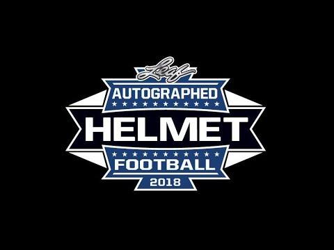 3241e3fced8 2018 Leaf Autographed Football Helmet Break  2. Breakaway Sports Cards