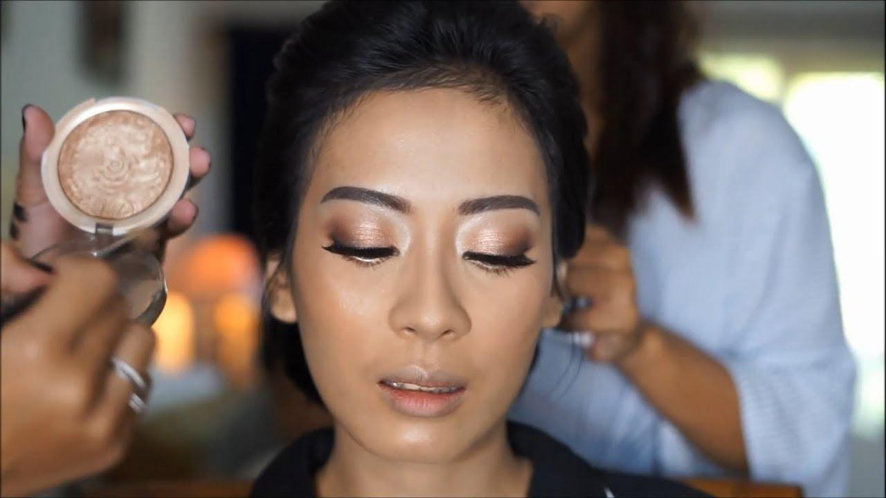 Client's WEDDING MAKEUP TUTORIAL #2 - IMA - YouTube