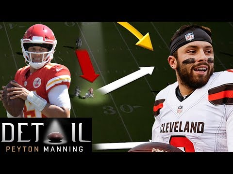 Peyton Manning Analyzes Baker Mayfield's & Patrick Mahomes' Decision Making