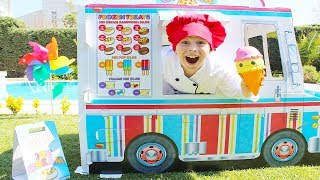 Kids Pretend Play with  Ice Cream Sweet Truck Funny video for children