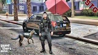 FORD EXPLORER| K9 PATROL!!!| #104 (GTA 5 REAL LIFE PC POLICE MOD)