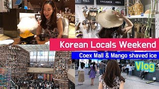 Weekend in Seoul Korea Vlog 2019 l Shopping(Coex mall) & Mango Shaved Ice l Direction: Naver map