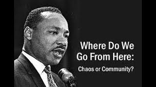 Chaos or Community? Where do we go from here?  Chapter 2 Black Power