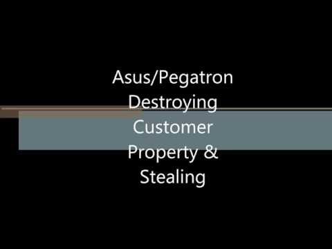 Asus / Pegatron BEFORE YOU BUY Destroying Customer Property & Stealing During RMA Call Audio Proof