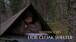 DDR Zeltbahn Canvas Cloak Shelter - Solo Bushcraft Overnight