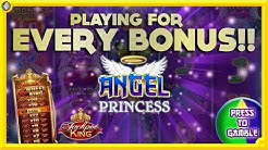 ONLINE BONUS CHALLENGE: Every Bonus on Angel Princess!! Including Jackpot King !!!