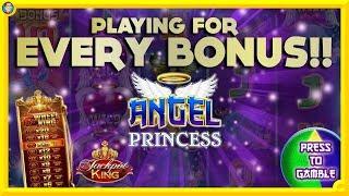 ONLINE BONUS CHALLENGE: Every Bonus on Angel Princess!! Including Jackpot King !!!