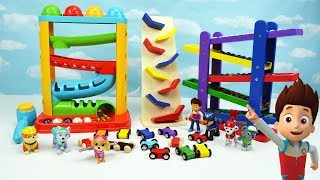 Learn Video Paw Patrol Toddler Learning Colors Kids Children Toy Marble Gumball Maze Ramp Race Cars
