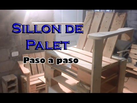 Como hacer un sillon de palet paso a paso youtube - Como hacer un sillon de madera ...
