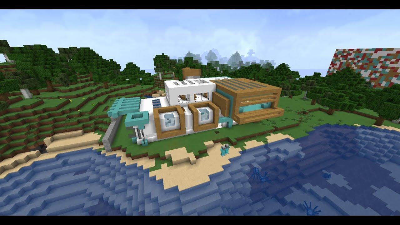 Minecraft maison moderne en bord de plage youtube - Video minecraft maison ...