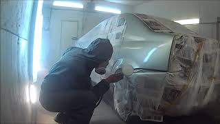 Renault Logan покраска заднего крыла и финиш