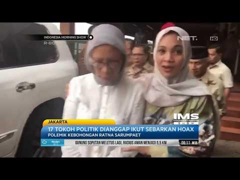 Kasus Kebohongan Ratna Sarumpaet Berbuntut Panjang, 17 tokoh politik Dilaporkan ke Polisi- IMS