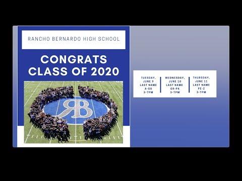 Day 1 - Rancho Bernardo High School Commencement Parade, June 9, 2020