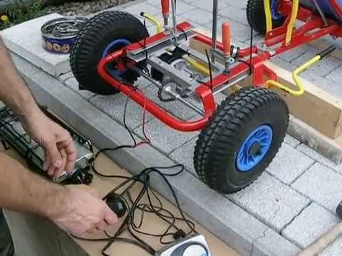 go kart mit elektromotor test eigenbau homemade youtube. Black Bedroom Furniture Sets. Home Design Ideas
