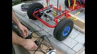 видео: Go Kart mit Elektromotor Test Eigenbau Homemade