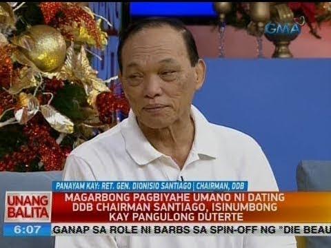 UB: Panayam kay Ret. Gen. Dionisio Santiago, Chairman, DDB
