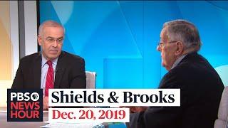Shields and Brooks on Trump's impeachment reaction, Democratic debate