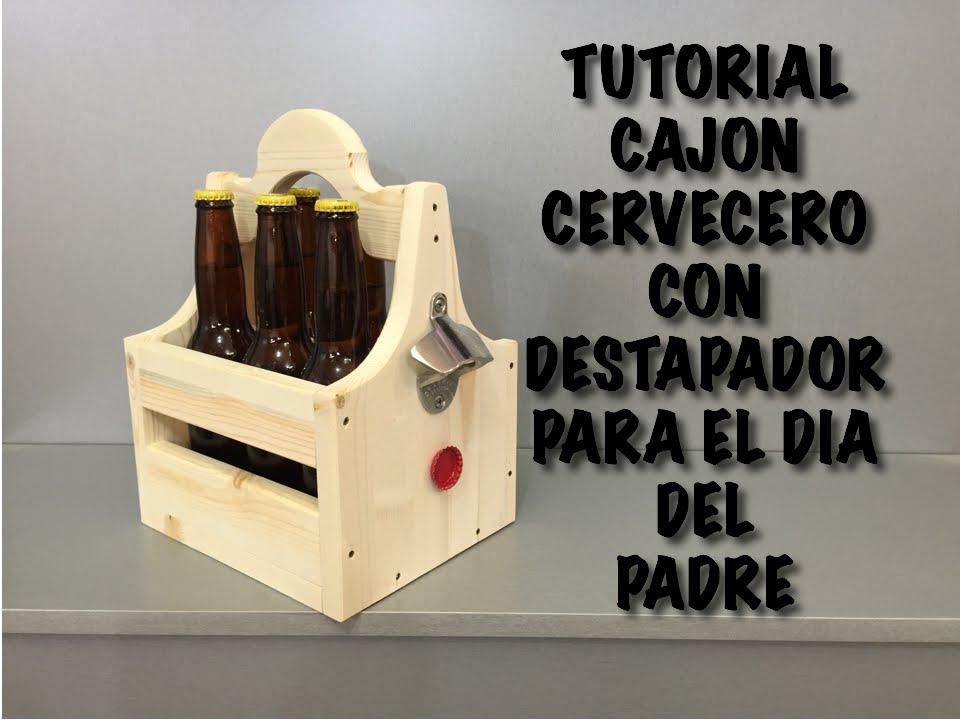 Tutor al cajon para cervezas con destapador regalo del - Manualidades con cajas de madera ...