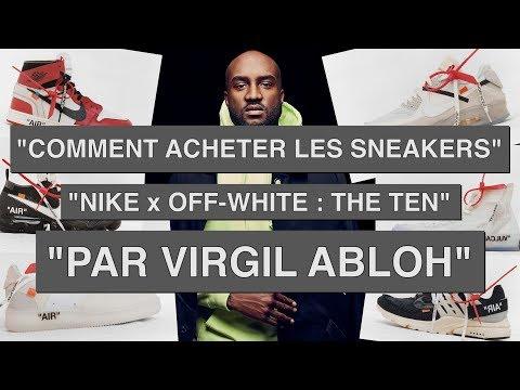 e964160a7b5e ACHETER LES SNEAKERS NIKE OFF-WHITE « THE TEN » par VIRGIL ABLOH : VAPORMAX  - #TUTO - YouTube