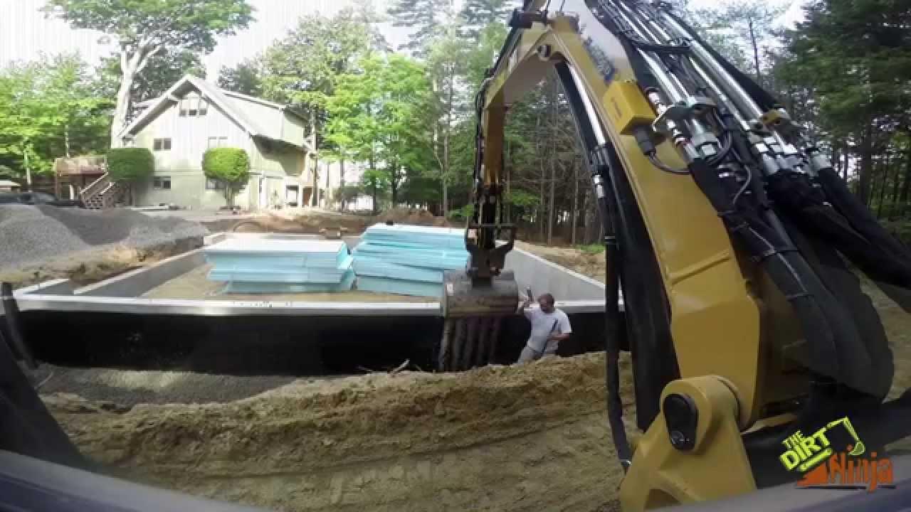 Cat 305 5e2 backfilling foundation backwards bucket doovi for Best backfill material for foundation