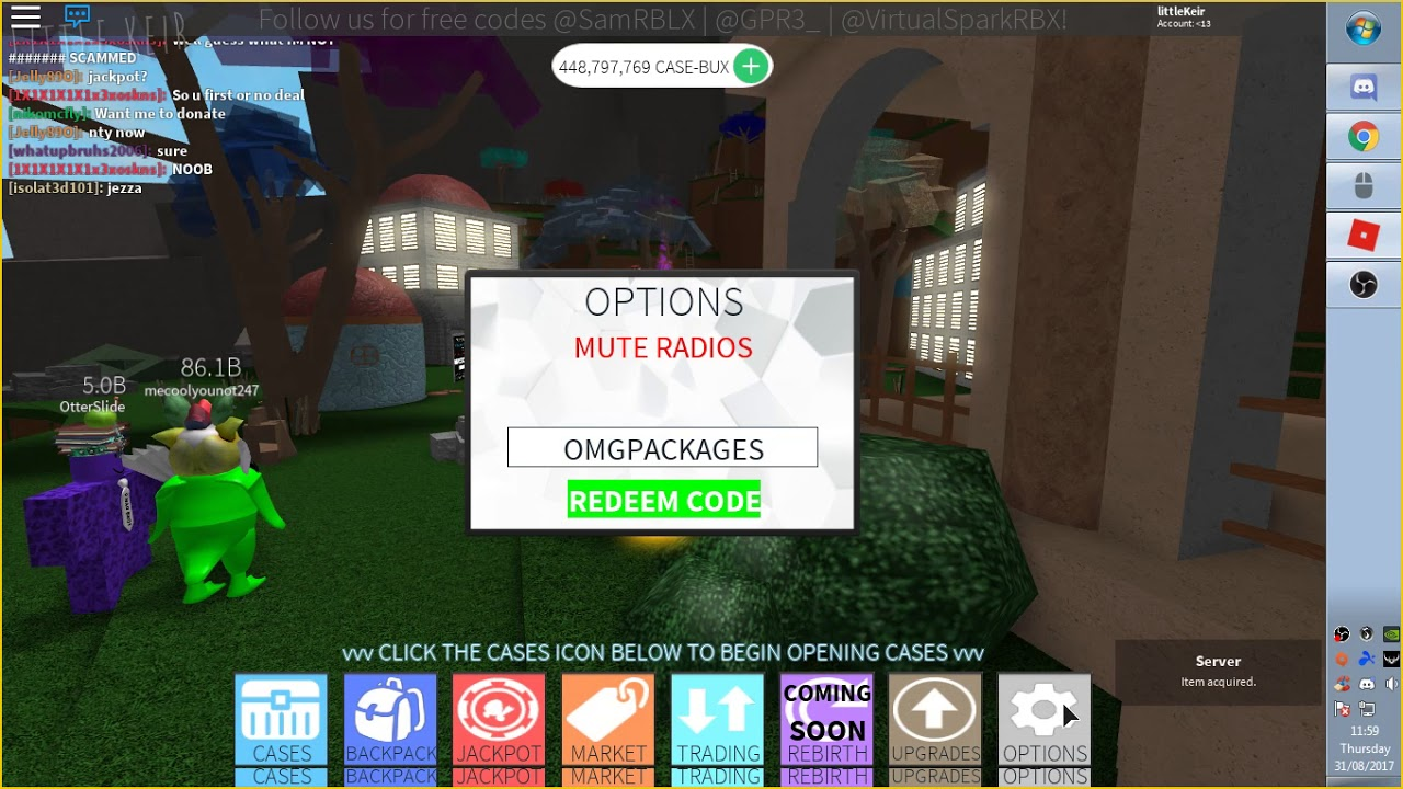 All Of The Case Clicker Codes On Roblox