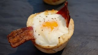 Bacon Egg Toast in a Muffin Tin Recipe