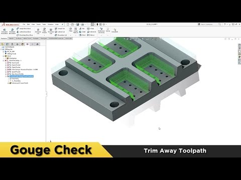 Gouge Checking - BobCAM for SOLIDWORKS™