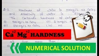 Calculation of Total Hardness, Carbonate Hardness & Non-carbonate Hardness.
