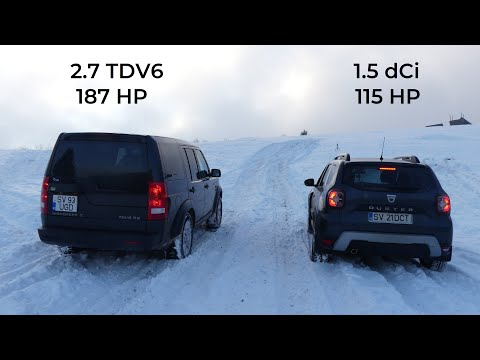 Test Dacia Duster 2019 vs Land Rover Discovery 3 Snow Offroad