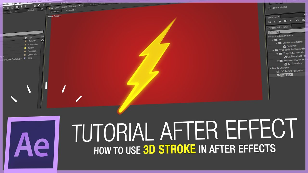 After effects tutorial how to use trapcode 3d stroke in after effects