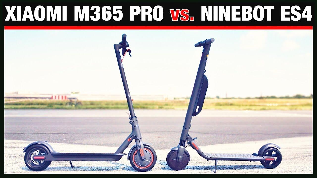 XIAOMI M365 PRO vs  NINEBOT ES4, der ultimative Vergleich! Escooter,  Eroller, Test (DEU-GER)