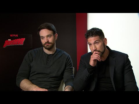 MARVEL´S DAREDEVIL Charlie Cox and Jon Bernthal   The Walking Dead MARVEL Punisher